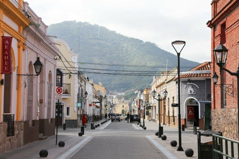 Colonial buildings in Salta's historic center