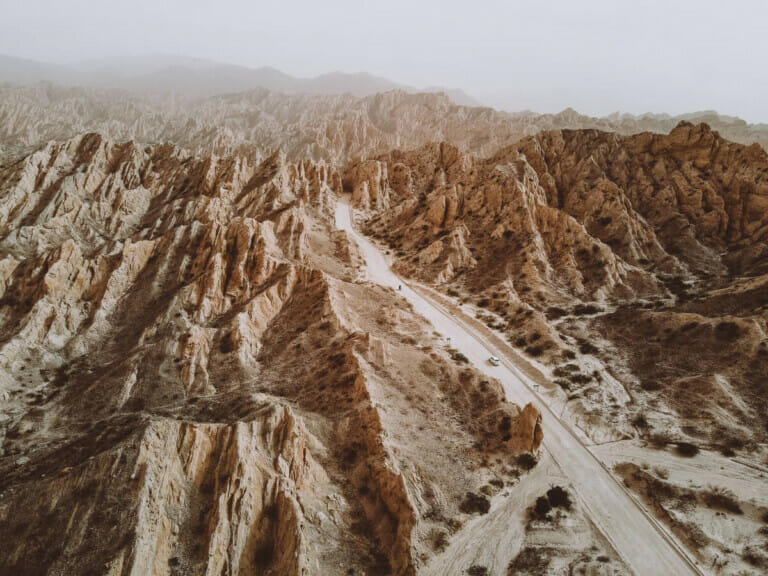 Geological formations in the desert